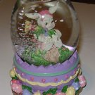 Easter Bunny Rabbit Water Globe