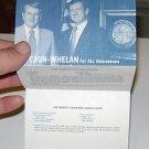Governor James Exon Campaign Foldout Brochure W/ Recipes