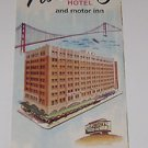 San Francisco Pickwick Hotel Vintage Tourist Brochure 1960's