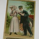 """Vintage Postcard  """"Trouble with my Sparker  """" Woman shunning Man"""