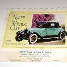 "Mustang Mobile Park McPherson KS Calendar ""Album of Antique Cars"" 1982"