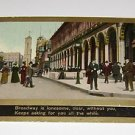 Vintage Postcard Broadway New York City
