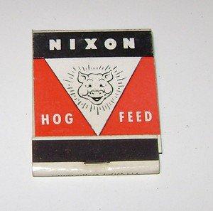 Vintage Matchbook Ad Nixon Hog Feed
