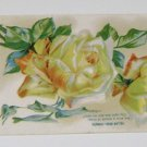 "Vintage Postcard ""Yellow Rose Infidelity""Bagly Quote She Wore Wreath of Roses"