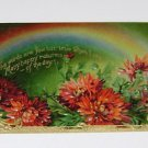 "Vintage Postcard  Many Happy Returns of the Day"" Embossed with Flowers"