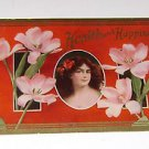 """Vintage Postcard """"Health & Happiness"""" young girl with flowers in hair"""