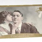"Vintage Postcard ""Honey you a Sweet Boy""  Woman Kissing Man"