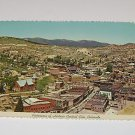 Vintage Postcard View Historic Central City Colorado