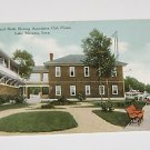 Vintage Postcard Council Bluffs Rowing Club House Lake Manawa IA 1909
