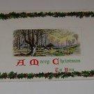 Vintage Christmas Postcard Rural Setting with Sheep