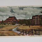 Vintage Postcard Old Faithful Inn Yellowston Park