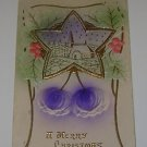 Vintage Christmas Postcard Church in Star