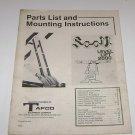 Scott Level Lift 2000 Tafco Instructions & Parts List