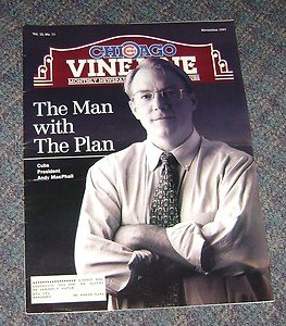Chicago Vine Line Cubs Magazine November 1997 President Andy MacPhail Cover