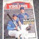 Chicago Vine Line Cubs Magazine November 1991 Pedro Castlano Hawblitzel Cover