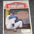 Chicago Vine Line Cubs Magazine November 1993 Tom Trebelhorn Cover