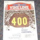 """Chicago Vine Line Cubs Magazine January 1994 400  """"If Winter Comes"""""""