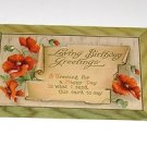 Vintage Postcard Loving Birthday Greetings PM'd 1910