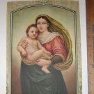 Sistine Madonna - - Raphael Calendar Art Print 1942