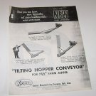 Koyker Tilting Hopper Conveyer Parts list and illustrations for 7 1/2' auger