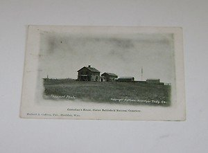Vintage Postcard Custodians House Custer National Cemetery 1909 postmark