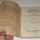1943 Wiring Simplified by H. P. Richter 15th edition