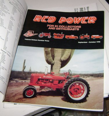 RED POWER IH & Farmall Enthusiasts Collectors Magazine september october 1998