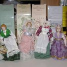 Lot of 6 Avon Dolls Fashion of American ~ Fairy Tale ~ Victorian ~ International
