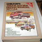 Chilton's Truck and Van Repair Manual 1977 - 84