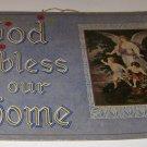 "Vintage Poster ""God Bless our Home"" Angel over Children"
