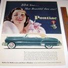 1951 Pontiac 25th Year Magazine Ad Color