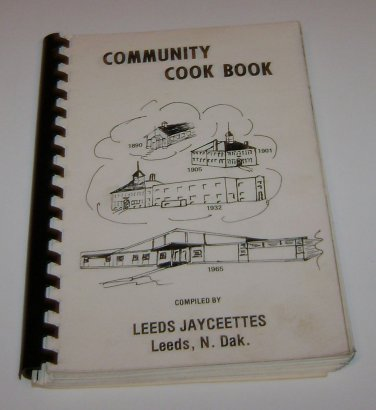 Leeds Jaycettes Leeds North Dakota Cookbook 1978