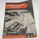 "1951 Ford Service Forum Booklet No 10 ""Tracing Troubles To Causes"""