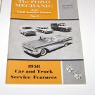 The Ford Mechanic 1958 Oct No 1 1958  Car and Truck Service Features