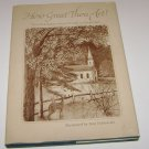 How Great Thou Art Hallmark Crown Edition Religious Verses of Faith 1975 HC