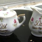 50th Anniversary Chinaware Sugar & Creamer
