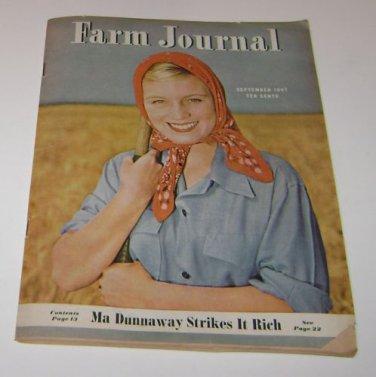 Farm Journal September 1947 Magazine