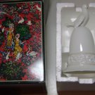 AVON 1981 TAPESTRY COLLECTION HANDCRAFTED DOVE BIRD WHITE PORCELAIN BELL NEW