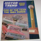 Motor Trend Magazine Special Award Issue Car Of The Year February 1964 FORDS