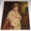 F.A Owens Print Art The Strawberry Girl by Sir Joshua Reynolds