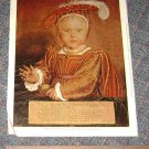 Vintage Art Print Edward VI as a Child Hans Holbein the Younger