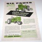 """John Deere """"R"""" & """"70"""" Tractors 1950's Magazine Advertisement"""