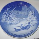 B & G AFTER JULE (CHRISTMAS) COLLECTOR PLATE 1970, PHEASANTS IN THE SNOW