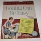 Vintage Ironing Can Be Easy Publication Proctor Electric Co 1948