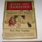 Vintage POST TOASTIES corn flakes label from original box