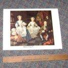 """Vintage Art Print William Hogarth """"The Graham Children"""""""
