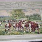 "Calendar Art Print by John Kabel 21376  ""The Fat Of The Land"""