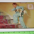 Boy in Pajama's Sneaking Dog Up To Bed Art Print Rockwell?