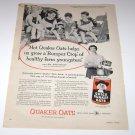 Quaker Oats Mrs James Howell Ludlowville NY 1950's Magazine Advertisement