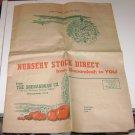 Vintage The Shenandoah Co Nursery Ad Flyer Shenandoah Iowa